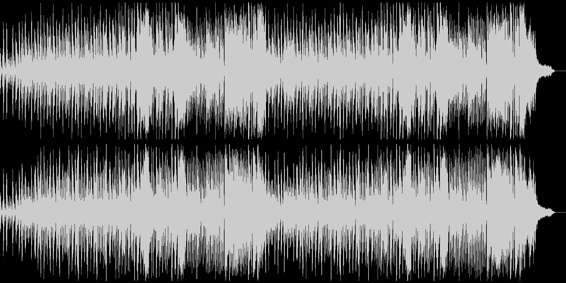 おしゃれなCMにモダンな現代音楽風ピアノの未再生の波形