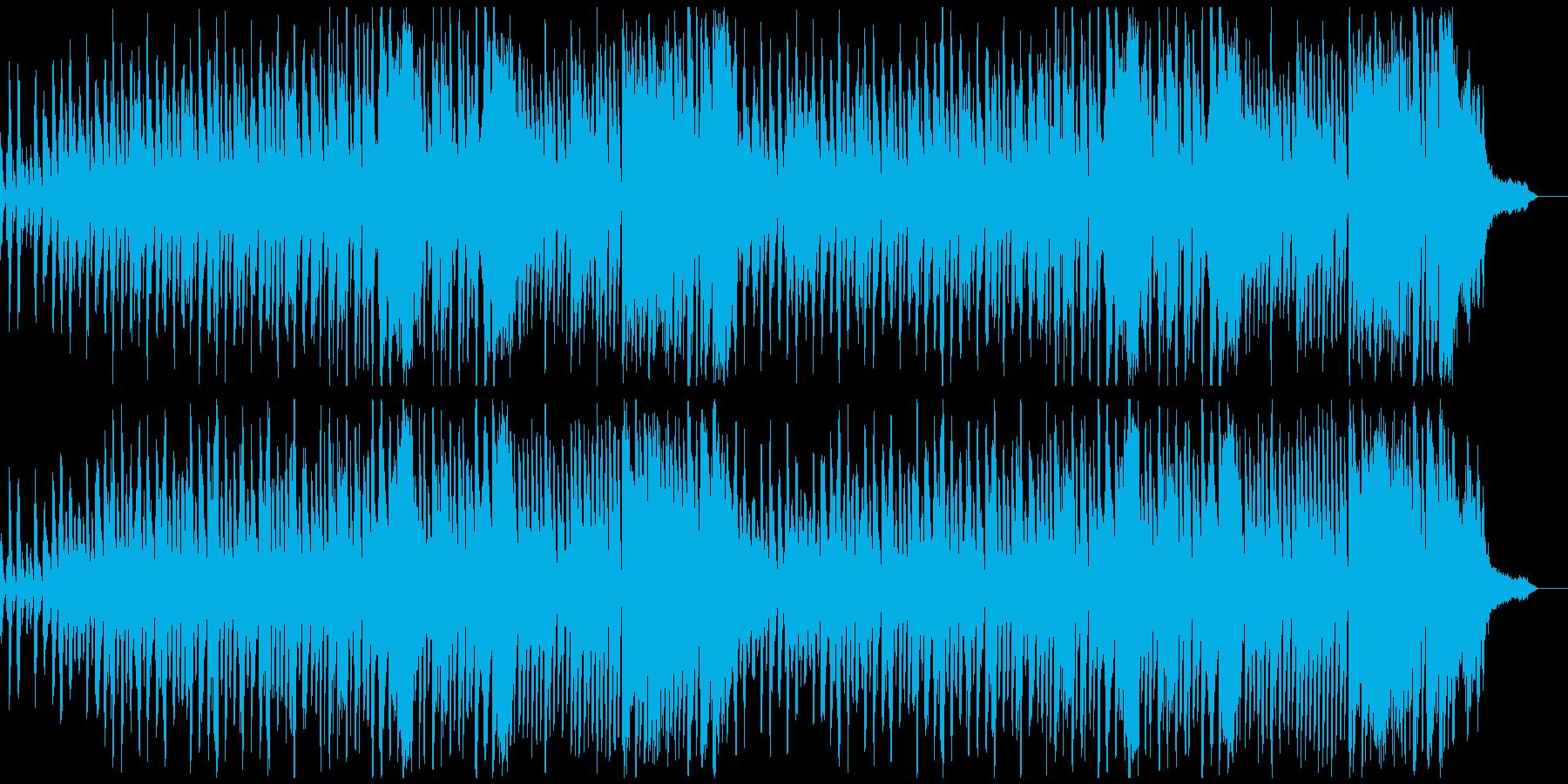 おしゃれなCMにモダンな現代音楽風ピアノの再生済みの波形
