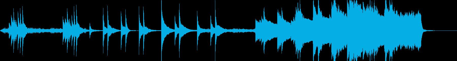 ダークファンタジーな雰囲気のBGM-Sの再生済みの波形