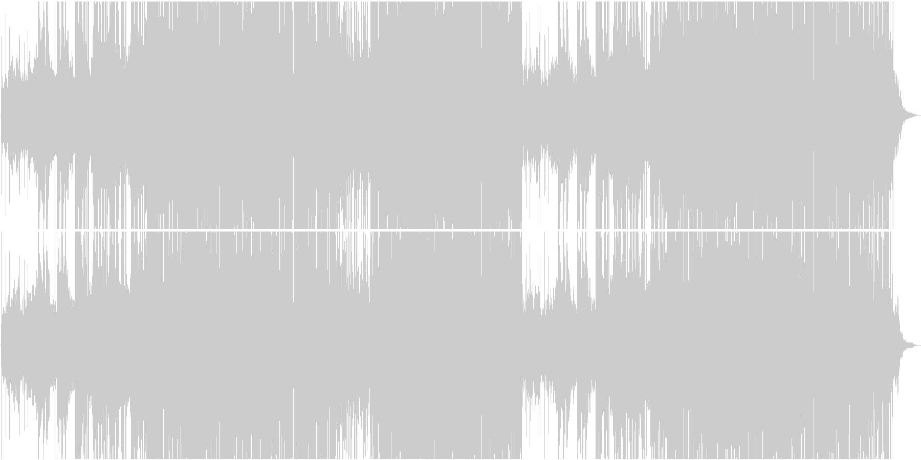 大らかゆったりラテンリズムが楽しいEDMの未再生の波形