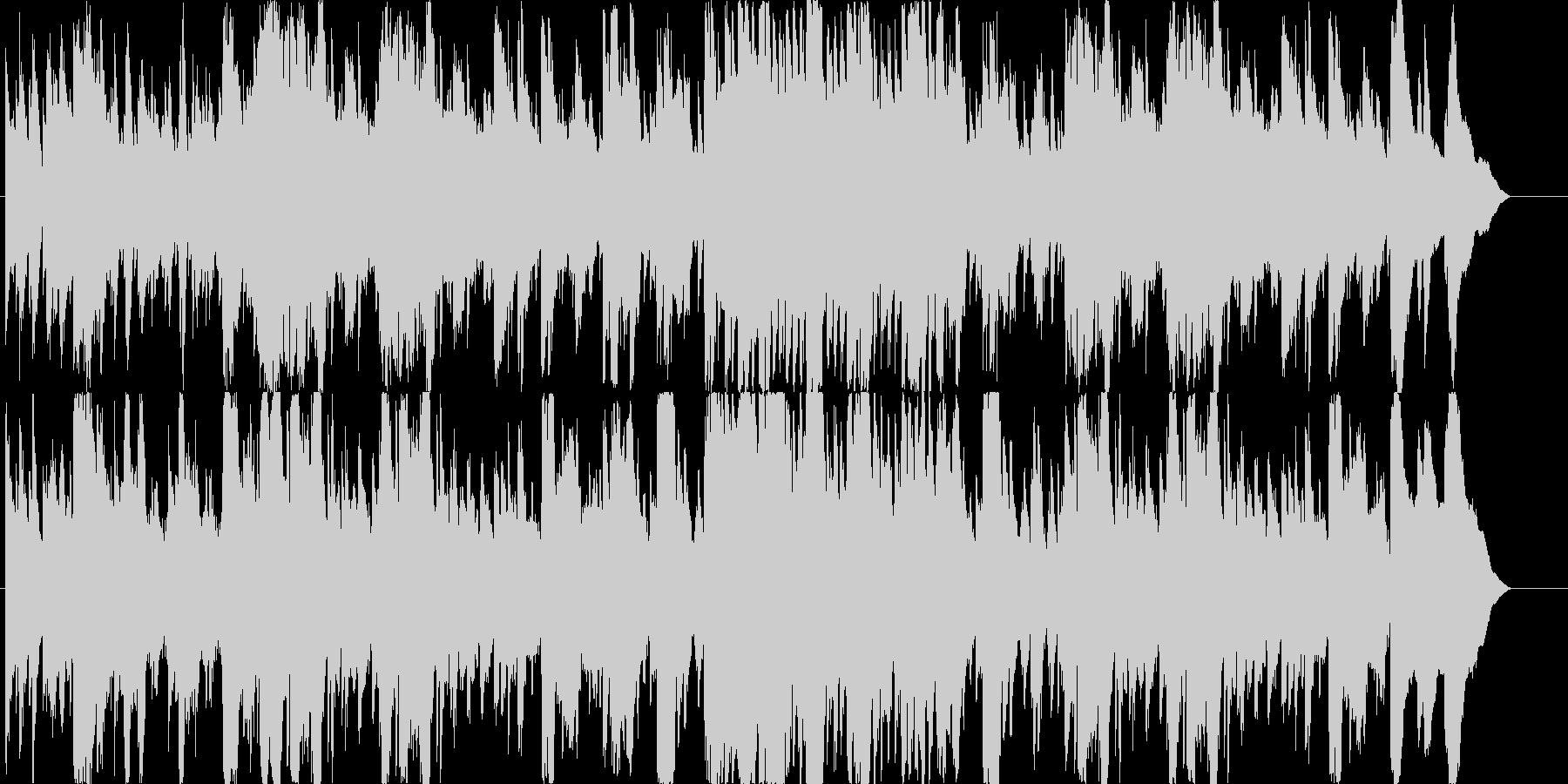 秋をイメージした美しくも切ないピアノ曲の未再生の波形