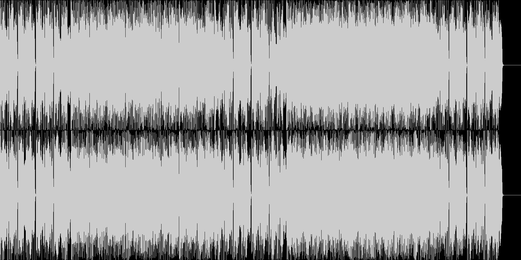 クールエレクトロニックサウンドの未再生の波形