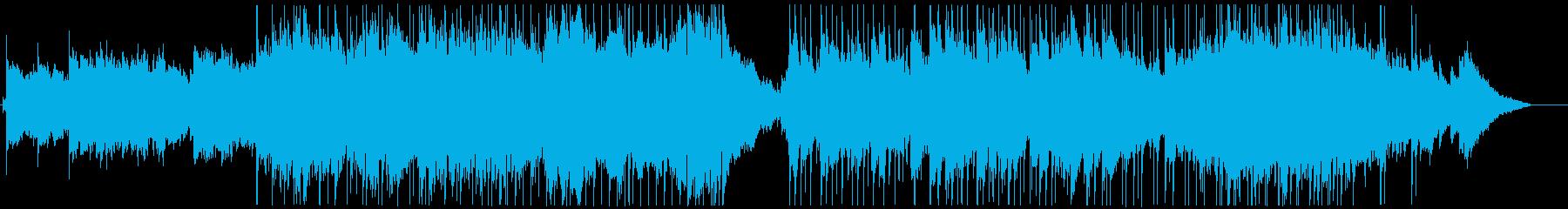 ニュースや映像のオープニングに合う曲の再生済みの波形