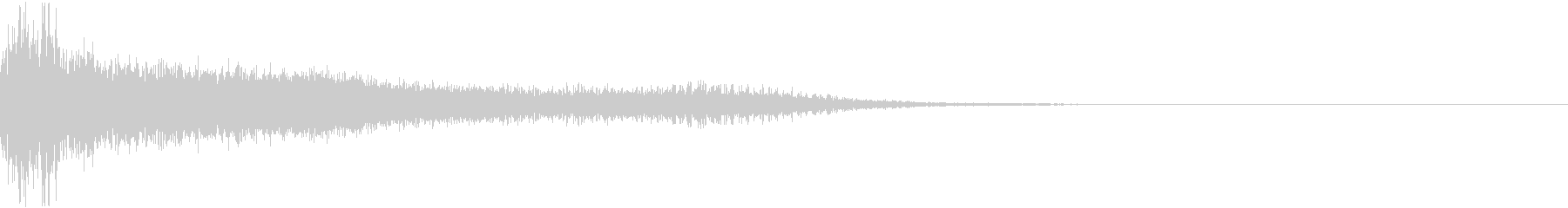 ドシューーン(魔法攻撃)の未再生の波形