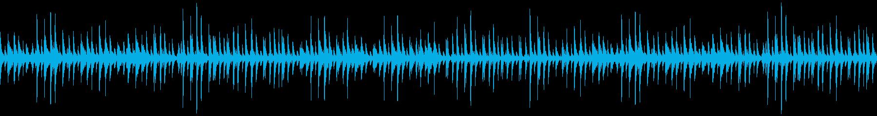 ハワイアン風なのんびりウクレレの再生済みの波形