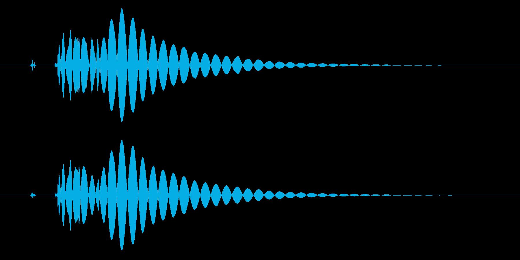 EDM/IDM系の埋もれないバスドラ3cの再生済みの波形