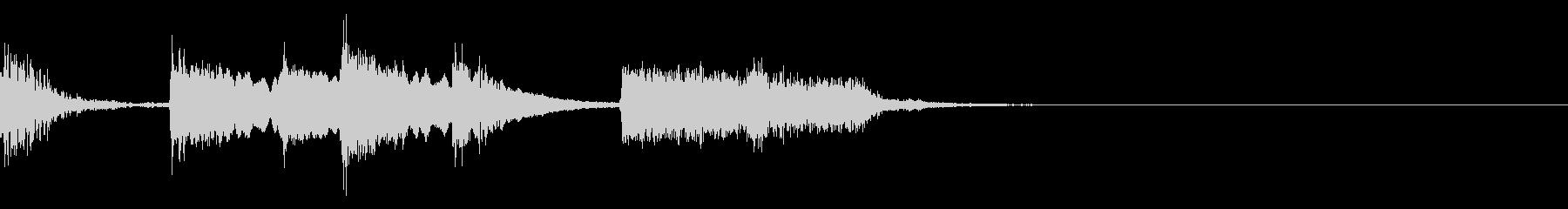 口笛のサウンドロゴの未再生の波形