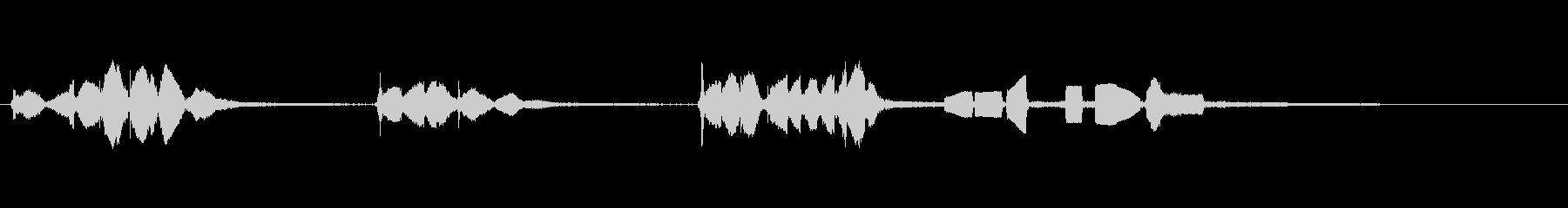 スターファイターとK9P2、SCI...の未再生の波形