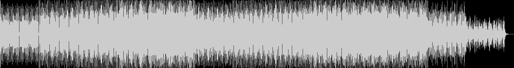 EDMドラマチックなテクノミュージックの未再生の波形