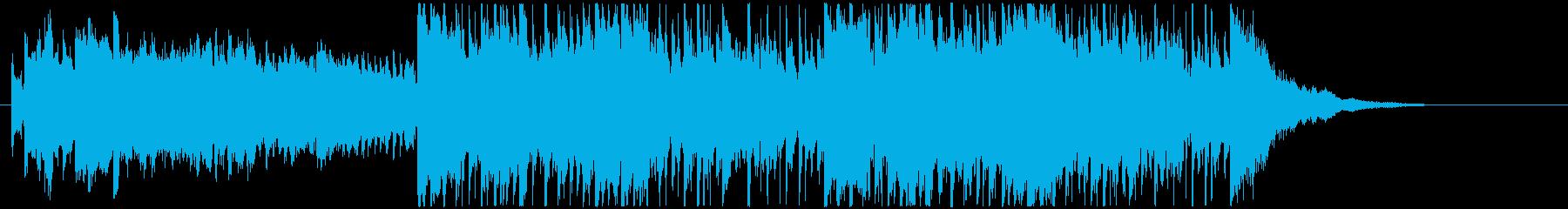 落ち着いた映画音楽、ゲームメニュー画面系の再生済みの波形