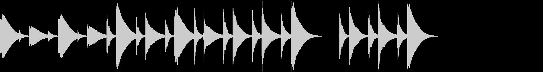 木琴のほのぼのしたキッチン向けジングルの未再生の波形
