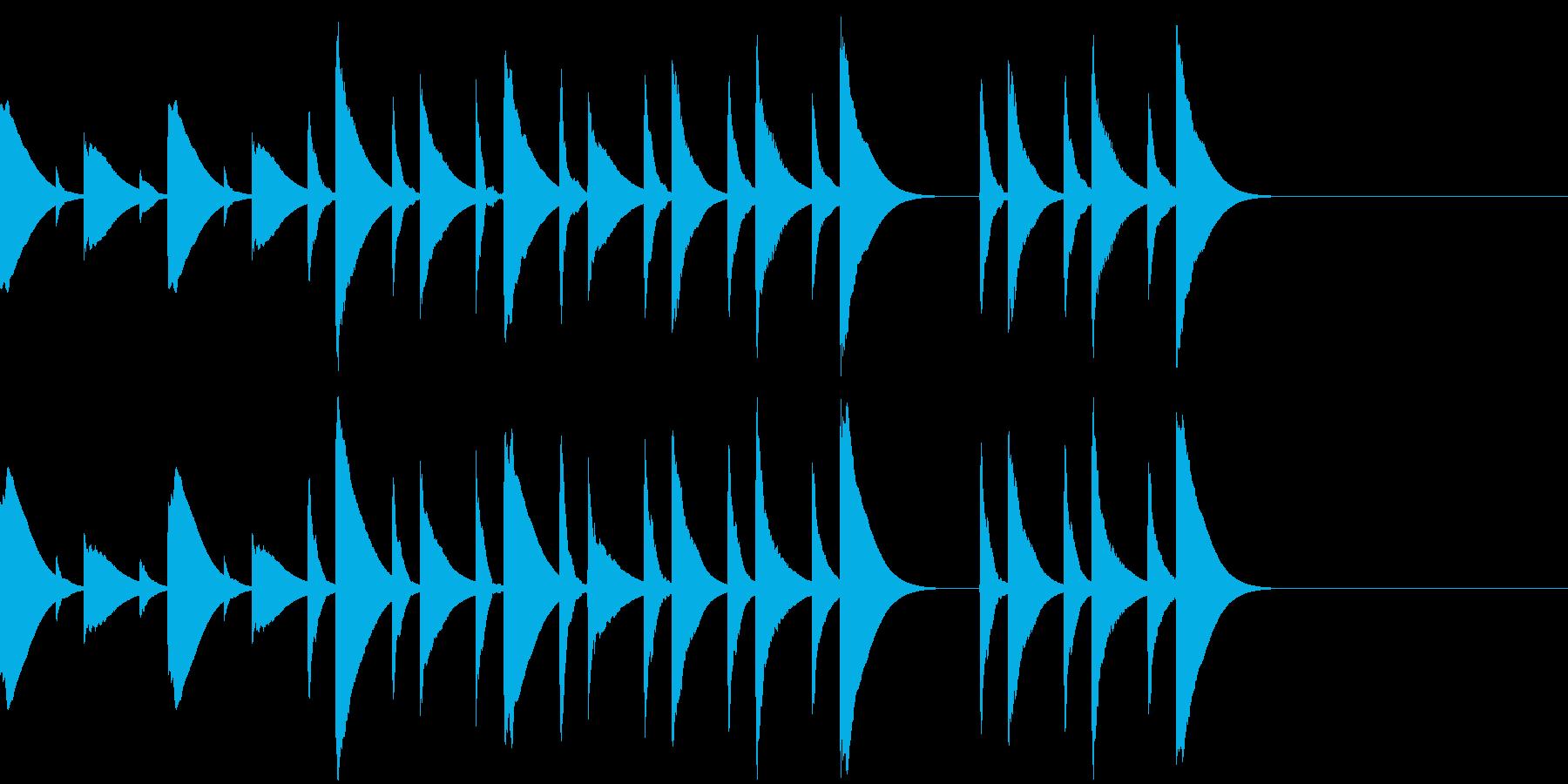 木琴のほのぼのしたキッチン向けジングルの再生済みの波形