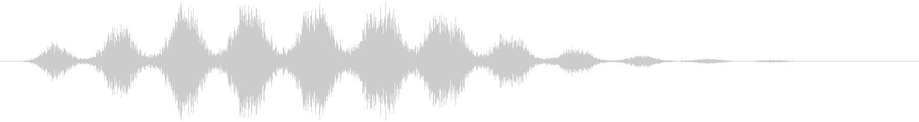 ワープ 短い(シュワシュワ…+サーッ)の未再生の波形