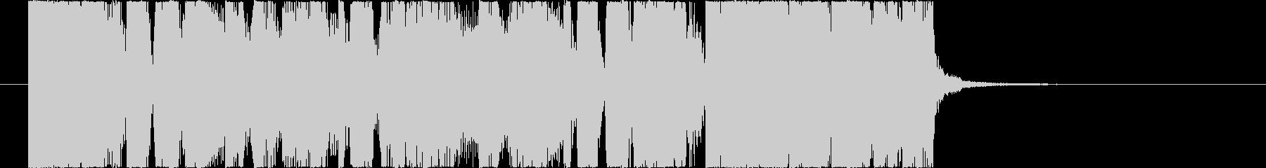 パワフルなファンクロックのジングルの未再生の波形