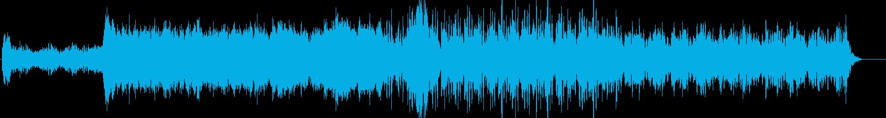 映画のオープニングのようなSFサウンドの再生済みの波形