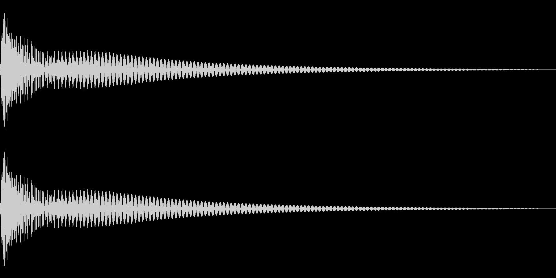 DTM Tom 33 オリジナル音源の未再生の波形
