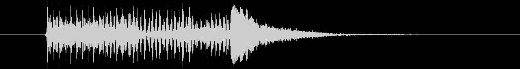 クイズで答える直前の音の未再生の波形