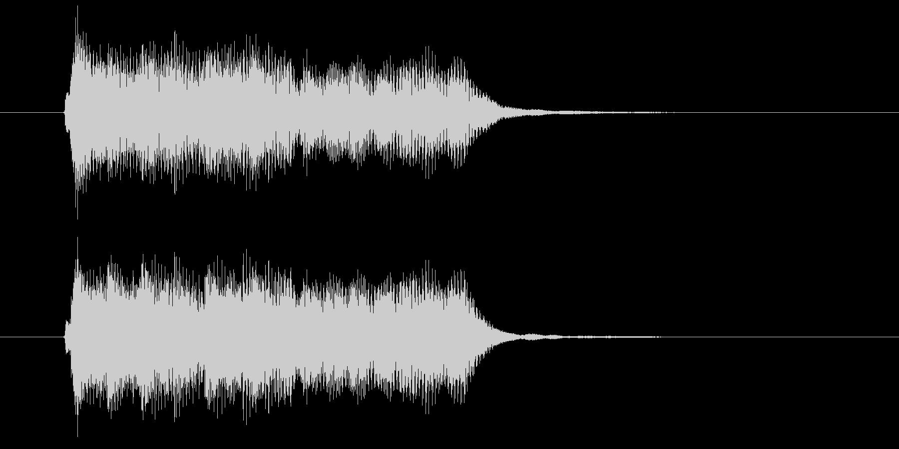 綺麗なフルートが印象的なBGMの未再生の波形