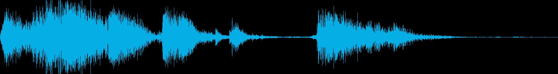 メタルインパクト、クランチ、インパクトの再生済みの波形