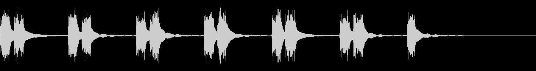 ビンテージプッシュボタン電話:ダブ...の未再生の波形