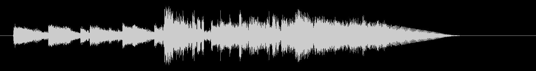 ロックなイメージのイントロの未再生の波形
