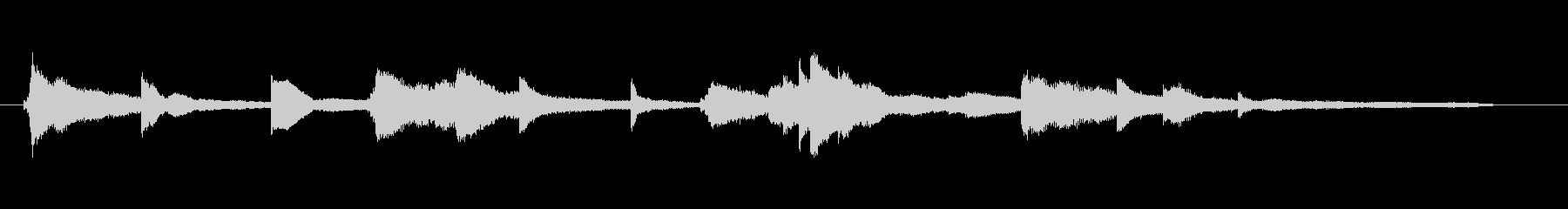 エレピとアコースティックピアノ・デュオの未再生の波形