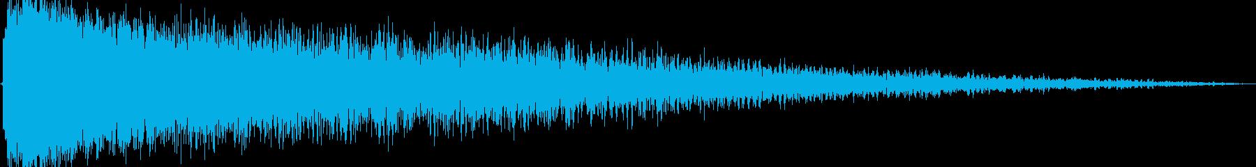 ショックを受ける(ピアノの音色を加工)の再生済みの波形
