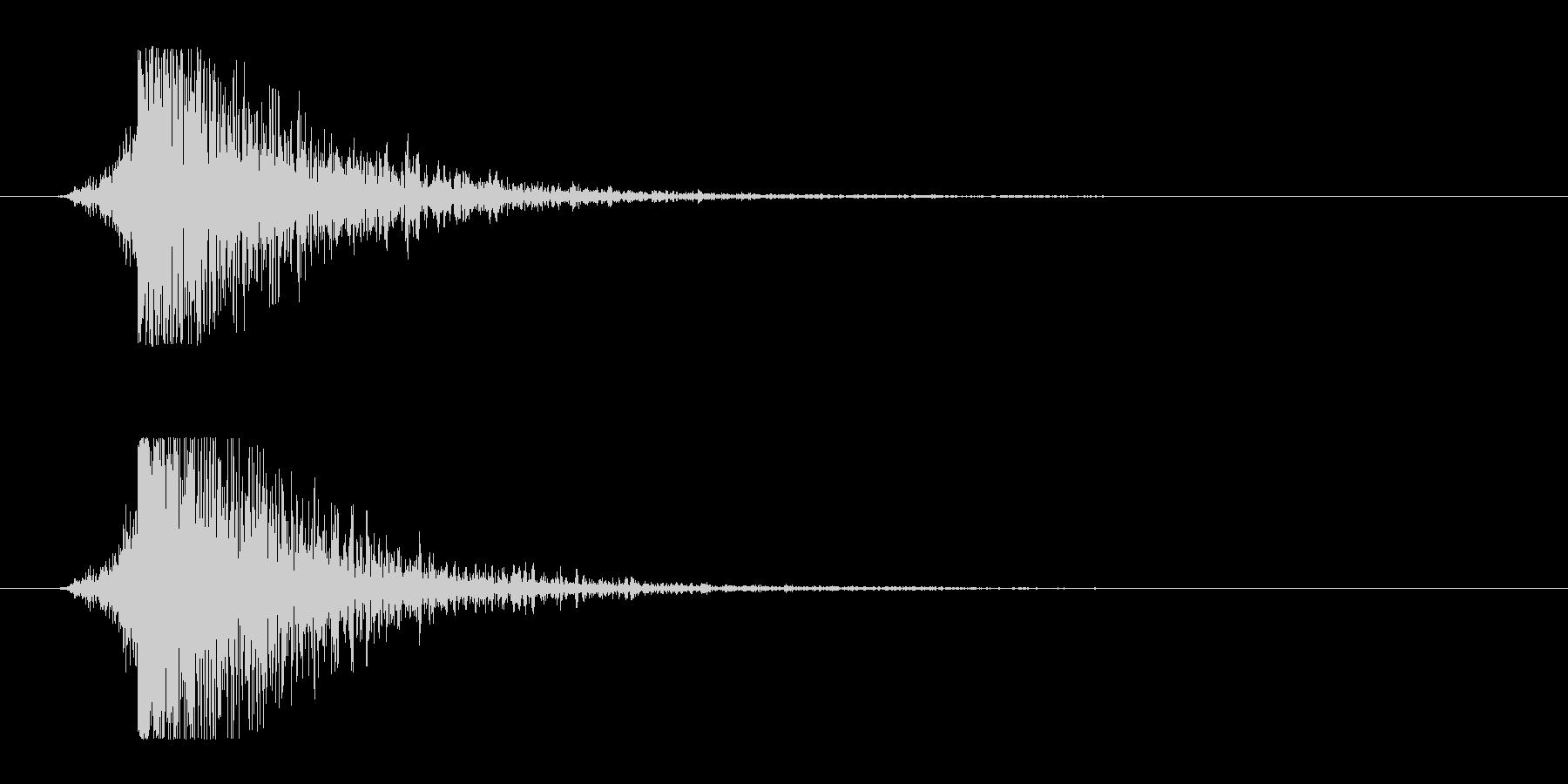 シュードーン-9(インパクト音)の未再生の波形