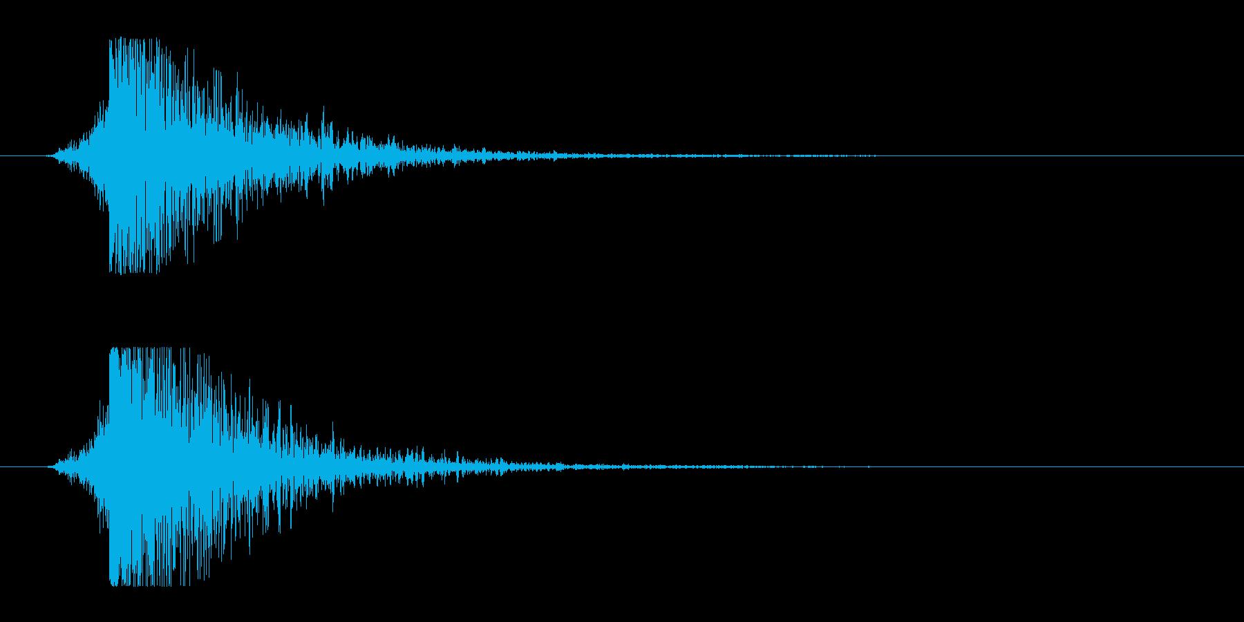 シュードーン-9(インパクト音)の再生済みの波形