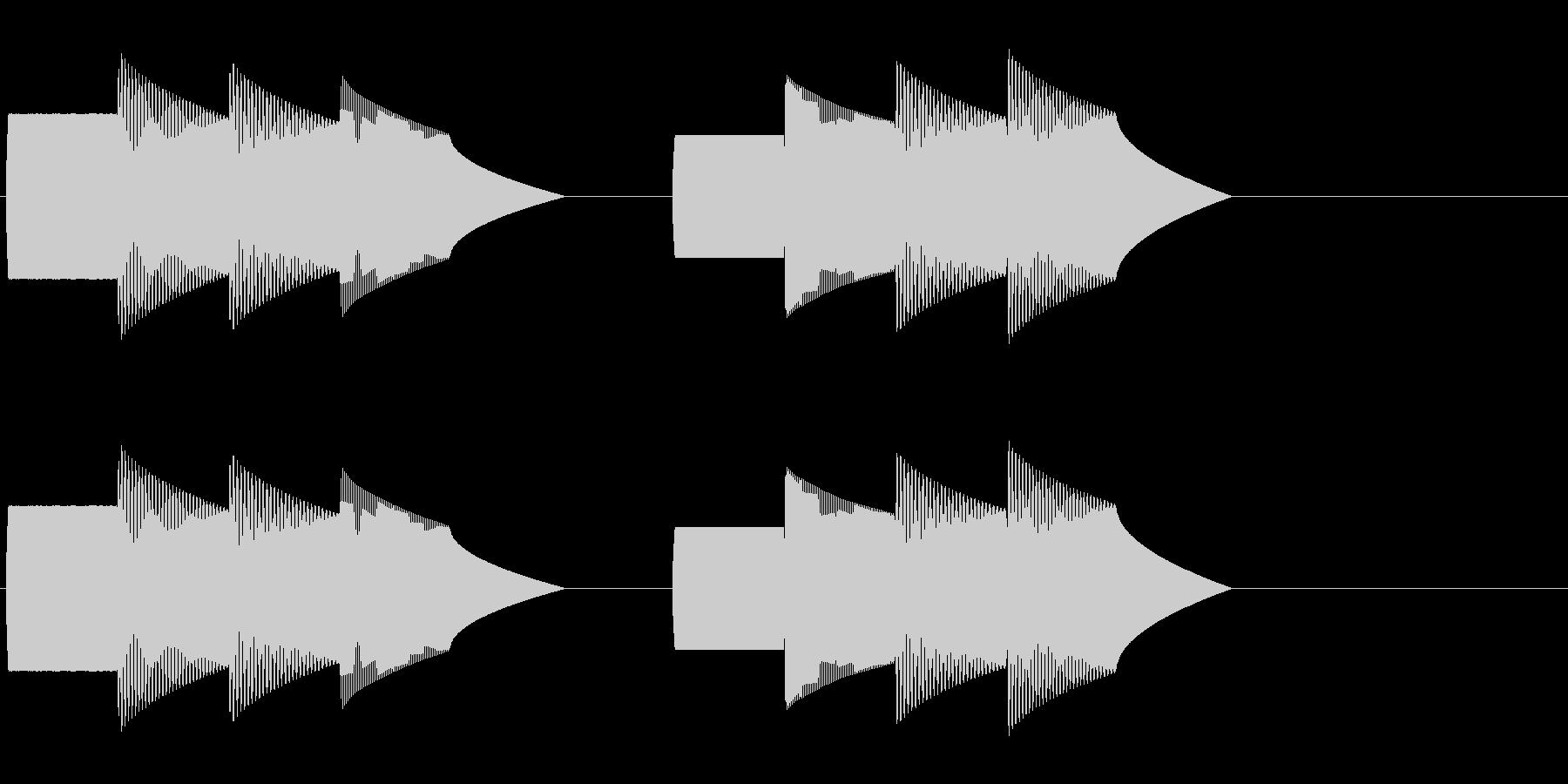 ピンポンパンポン(デパート等の呼び出し)の未再生の波形