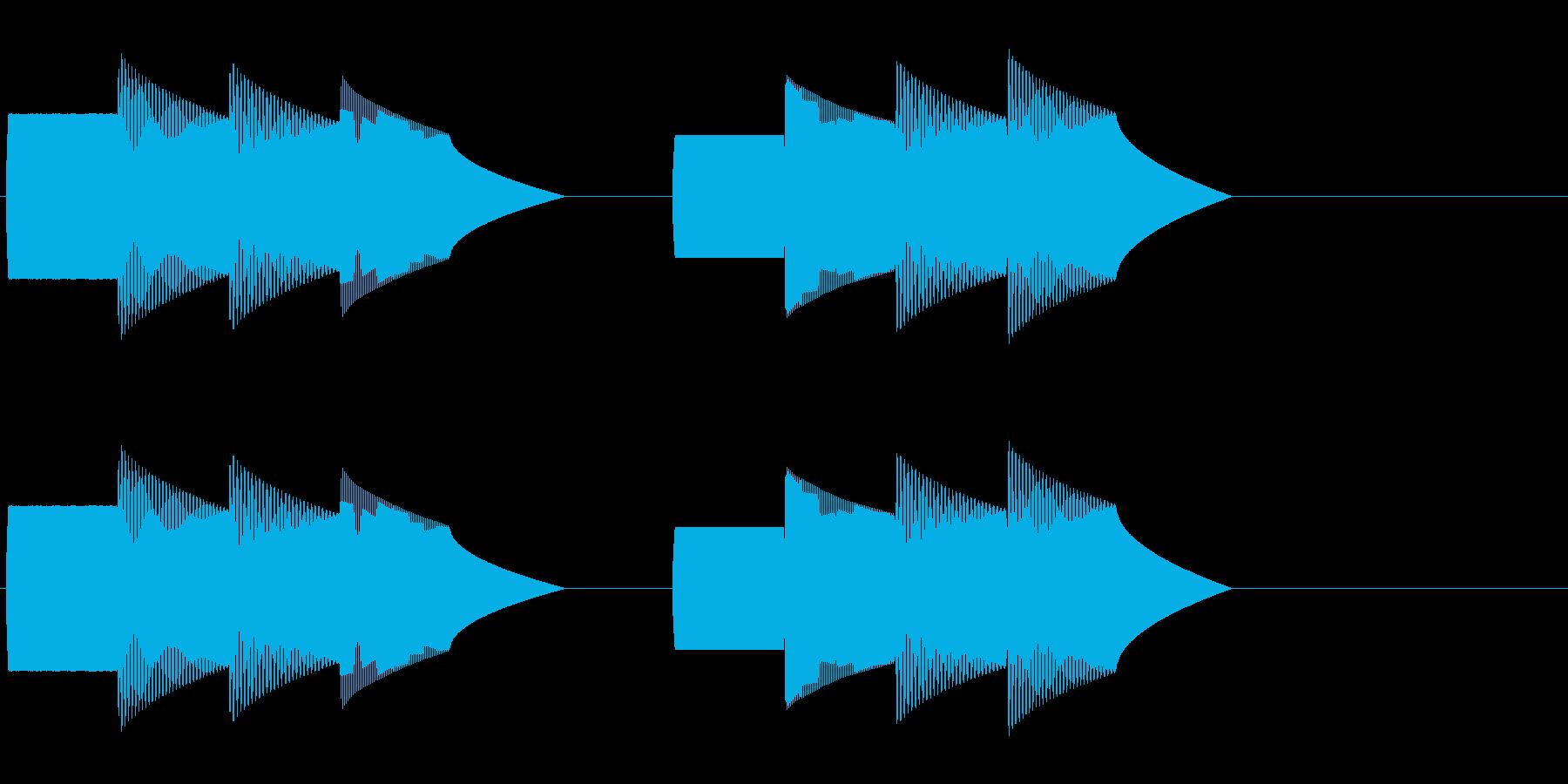 ピンポンパンポン(デパート等の呼び出し)の再生済みの波形
