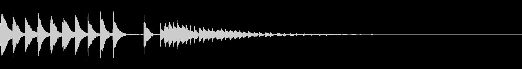とぼけた雰囲気のジングル・場面転換の未再生の波形