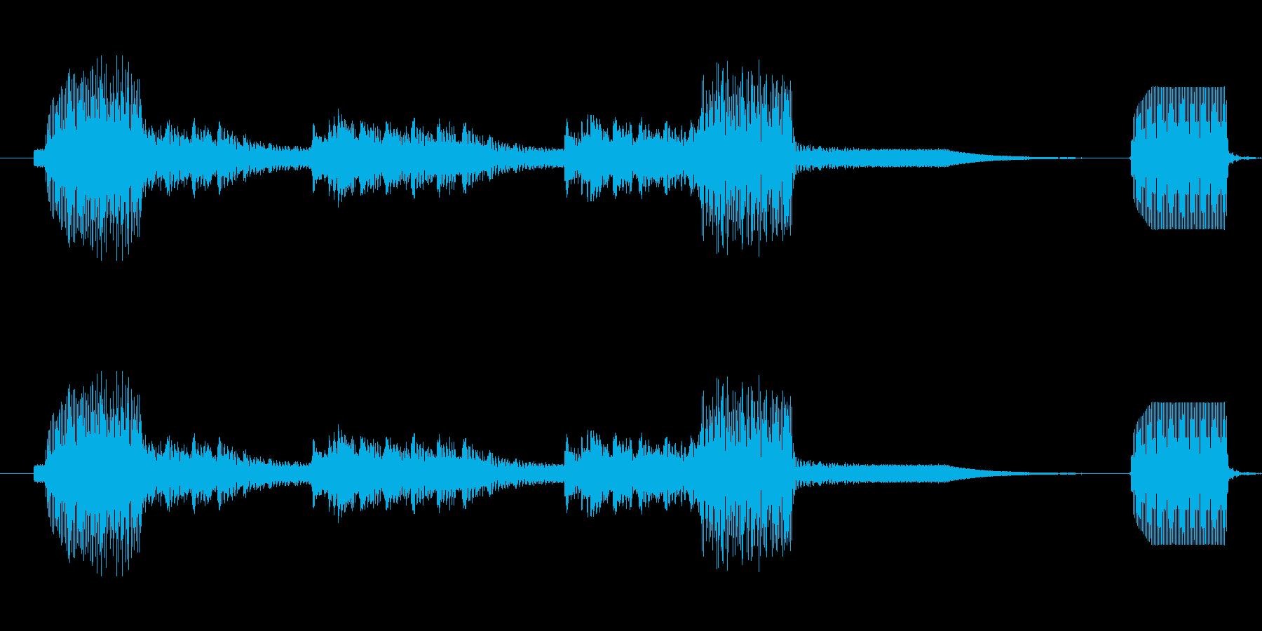 追跡デバイスがオン;コンピューター処理。の再生済みの波形