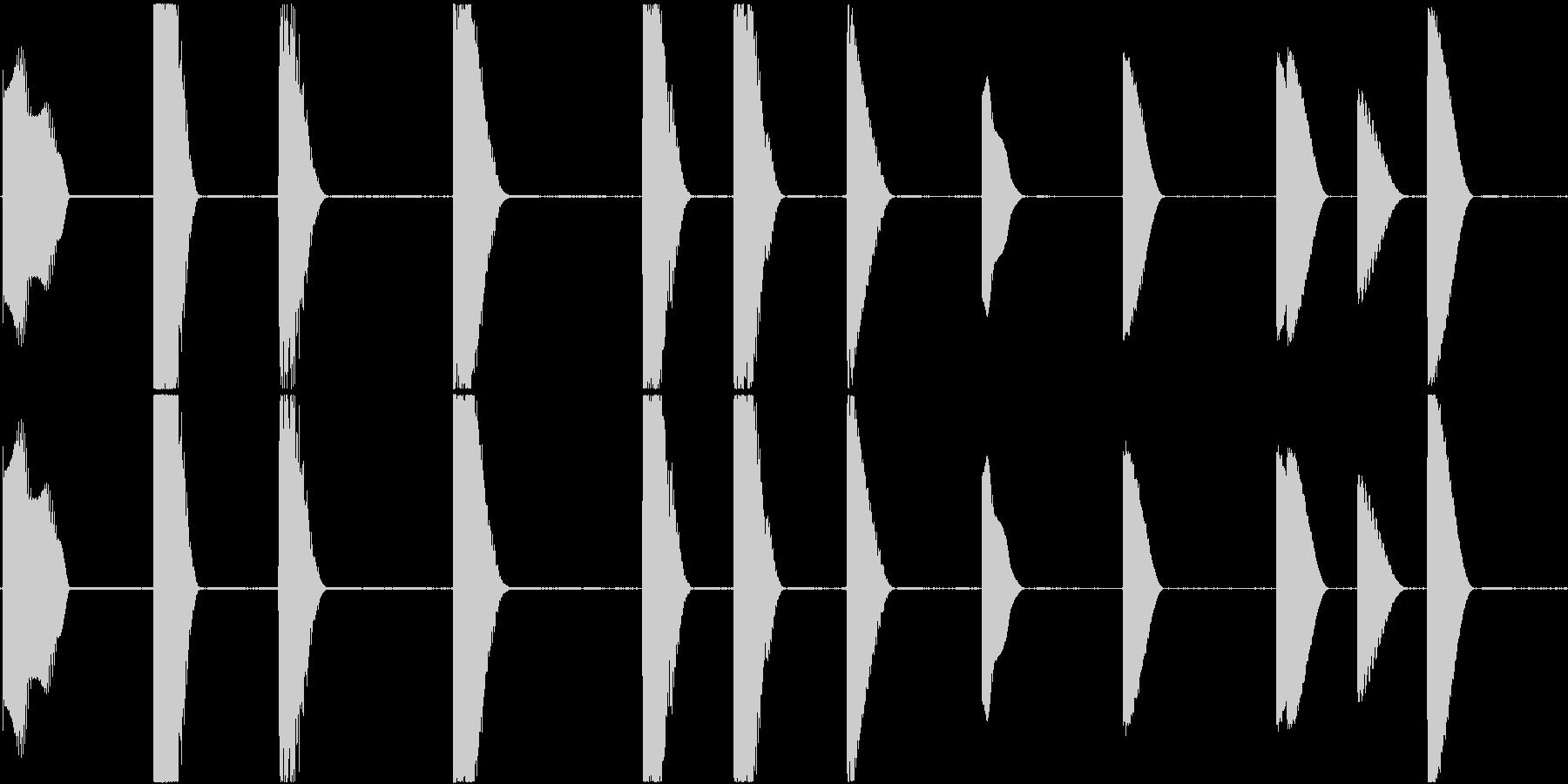 音がこもったエレクトリックピアノの未再生の波形