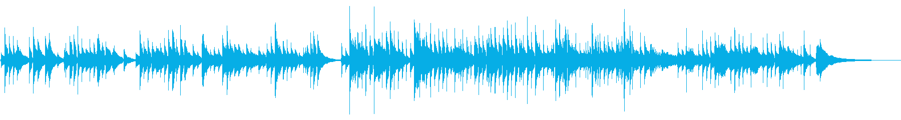 ほのぼの優しいアコースティックなBGMの再生済みの波形