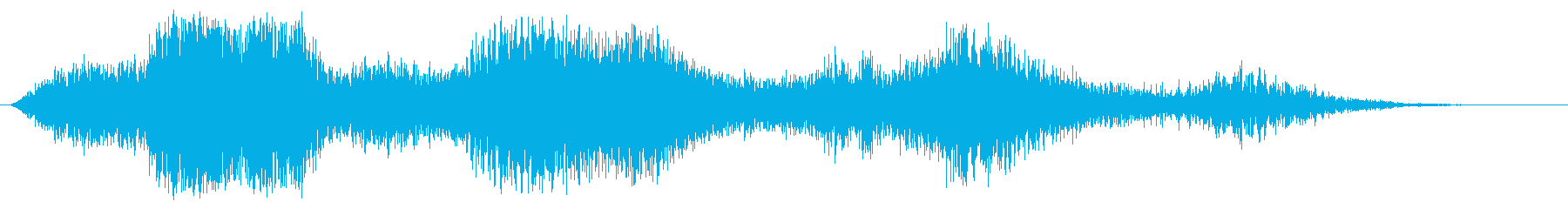 3つの重い空気の蹄の再生済みの波形