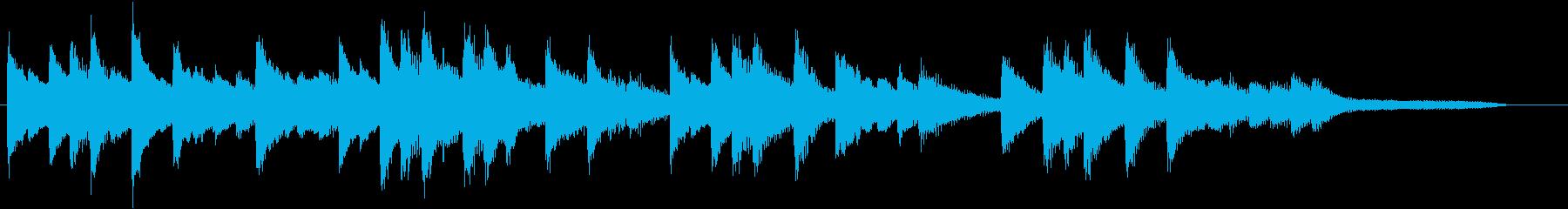 童謡・紅葉モチーフのピアノジングルDの再生済みの波形