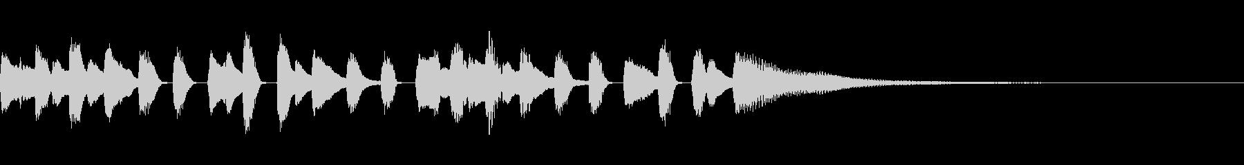 ピアノ・シンプル・ワルツ・回るようなの未再生の波形