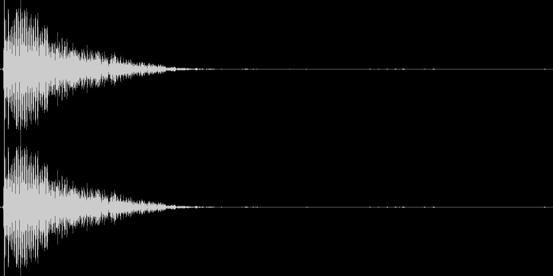 ボイスドラム_スネアの未再生の波形