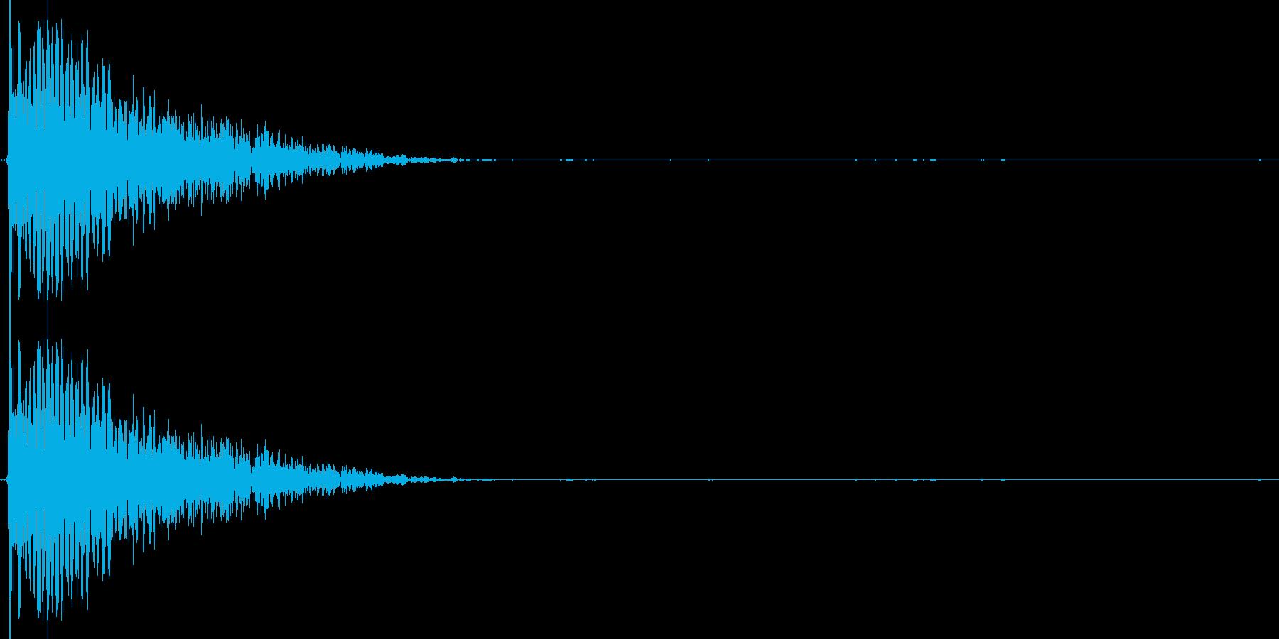 ボイスドラム_スネアの再生済みの波形