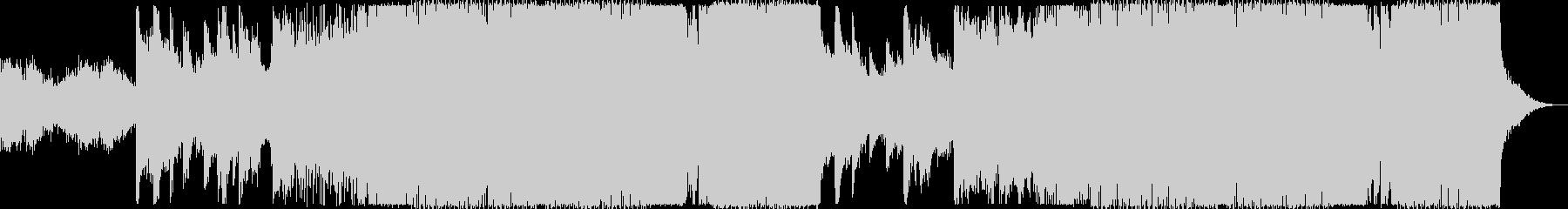とにかくキレイなドラムンベースの未再生の波形