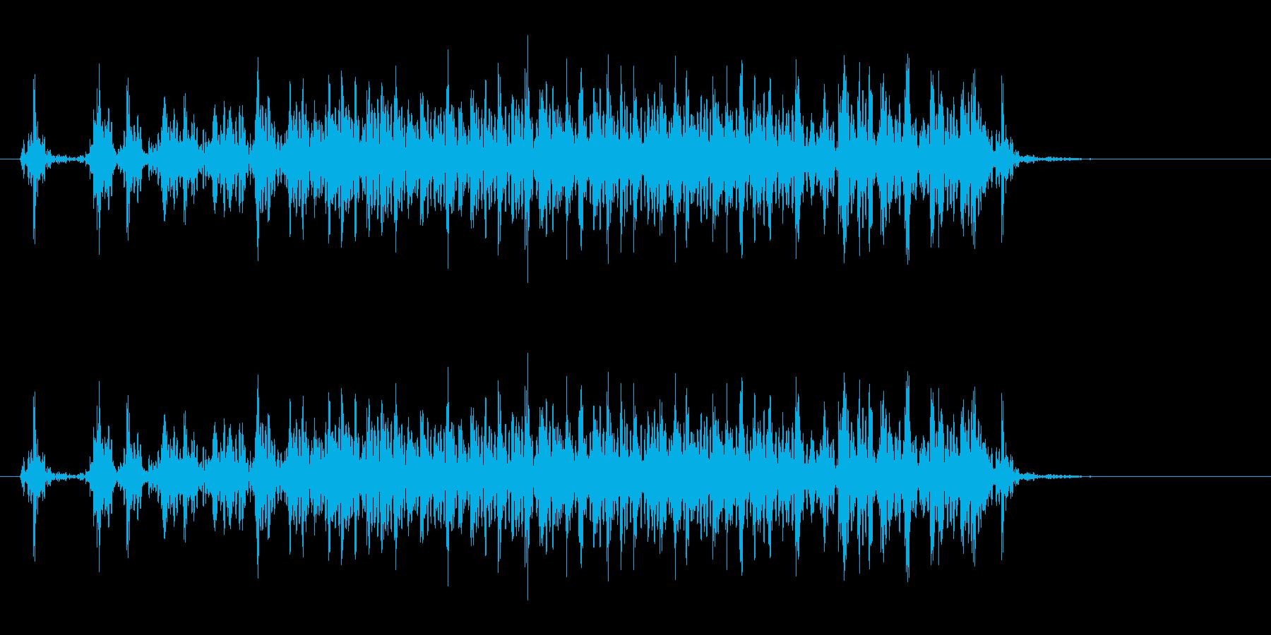 壊れている機械の再生済みの波形