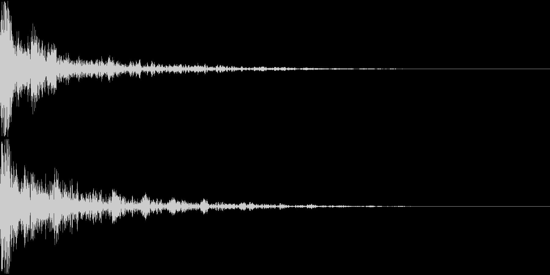 ドーン-21-2(インパクト音)の未再生の波形