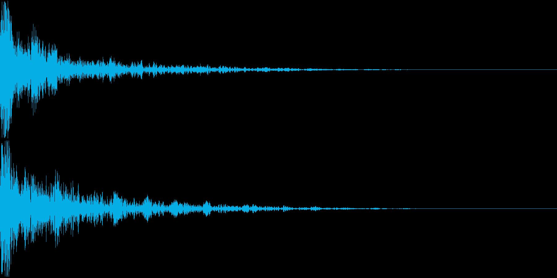 ドーン-21-2(インパクト音)の再生済みの波形