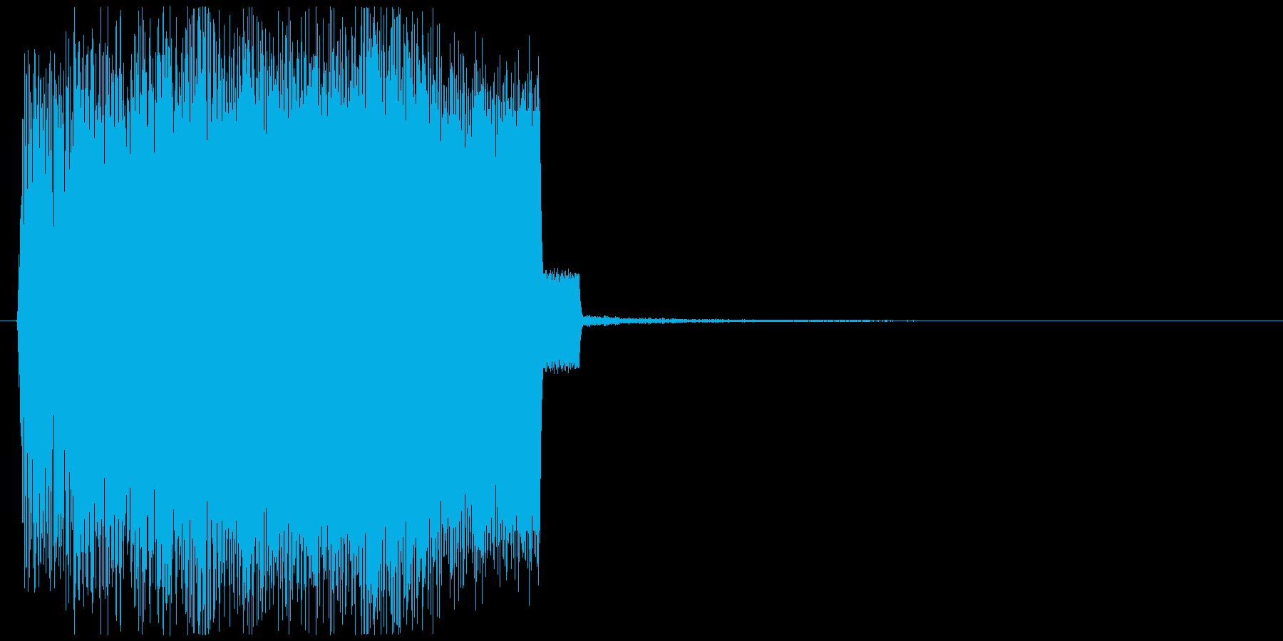 ぐーん!と上がるメーター上昇音1の再生済みの波形