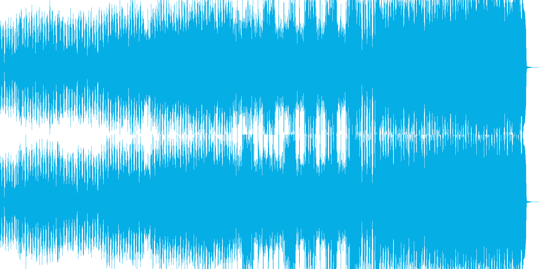 力強いバトルイメージの曲ですの再生済みの波形