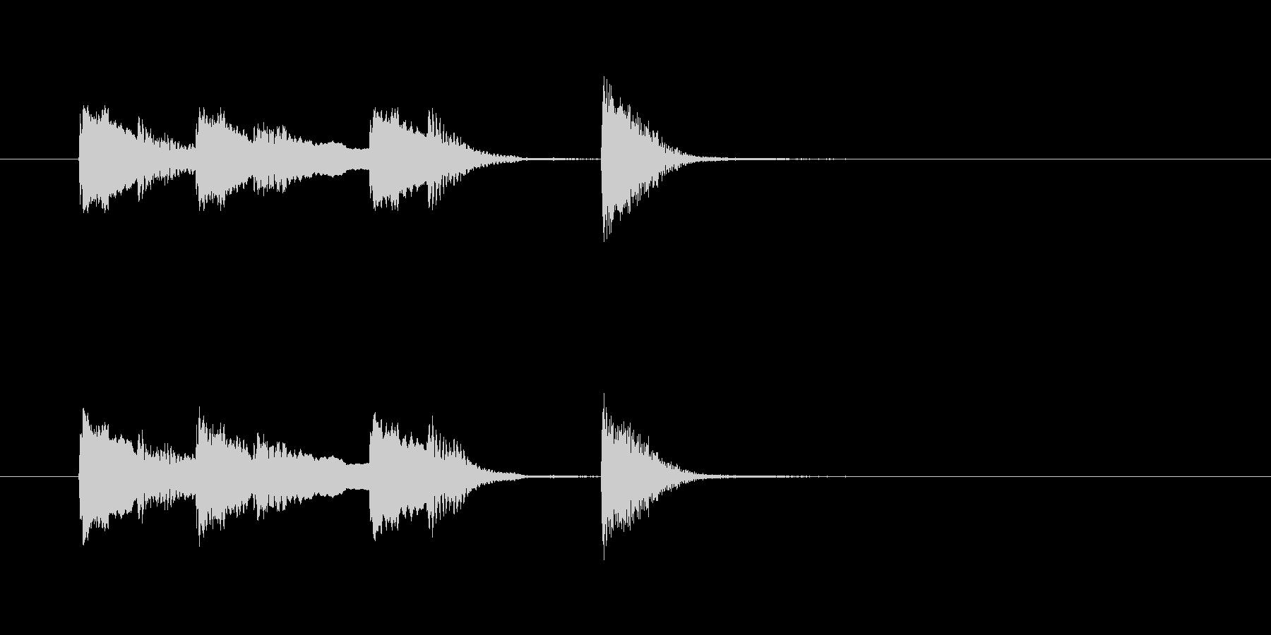 オチピアノ④ ズッコケ 場面転換の未再生の波形
