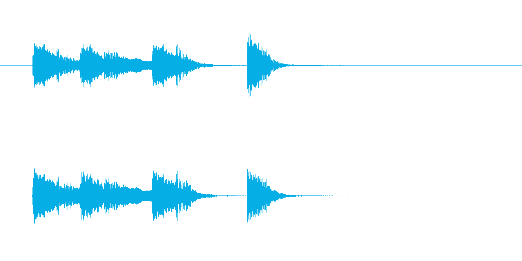 オチピアノ④ ズッコケ 場面転換の再生済みの波形