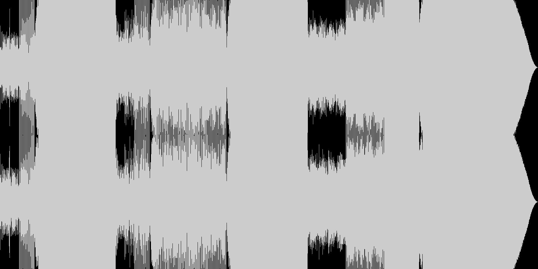 王道のEDMの未再生の波形