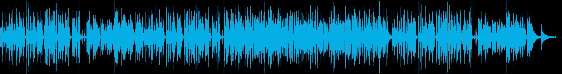 軽快ピアノトリオ 映像シーン ウキウキ感の再生済みの波形